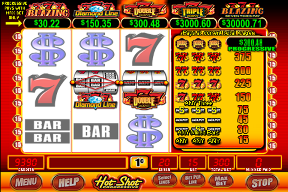 Screenshot Slot Machine – Hot Shot Blazing 7's Progressive™